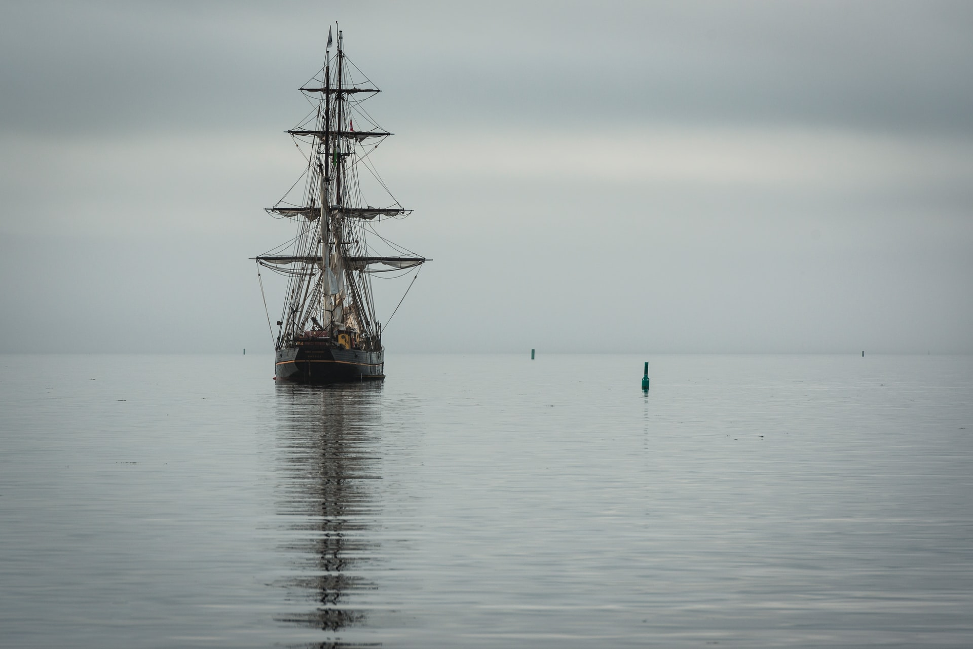 A tall ship, as sung about in the traditional ballad, Shallow Brown