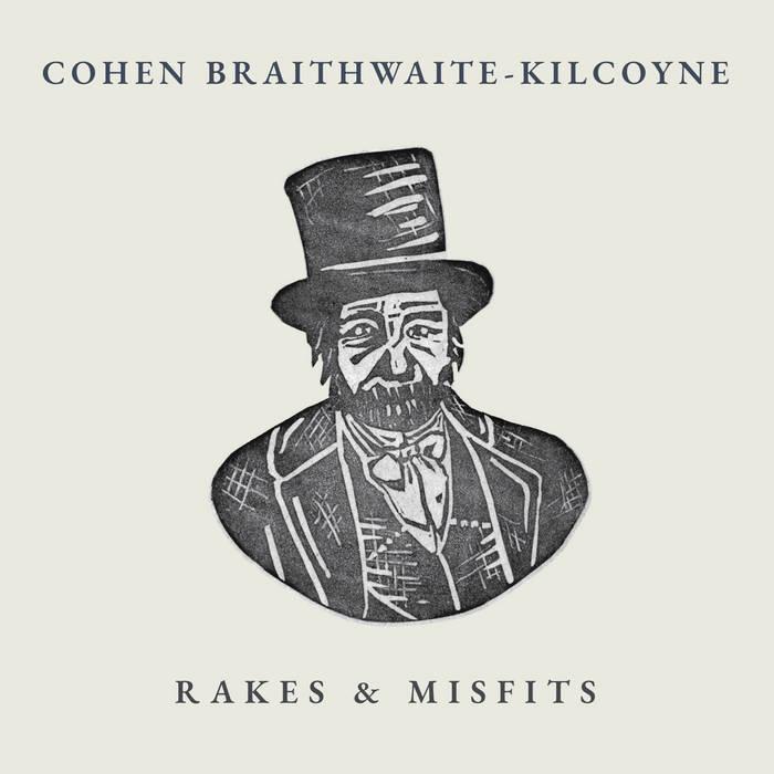 The album sleeve artwork by Rosie Hood for Cohen Braithwaite-Kilcoyne's album, Rakes & Misfits